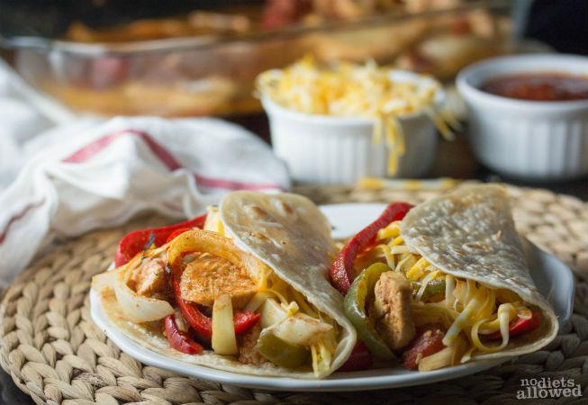 chicken fajita bake- No Diets Allowed