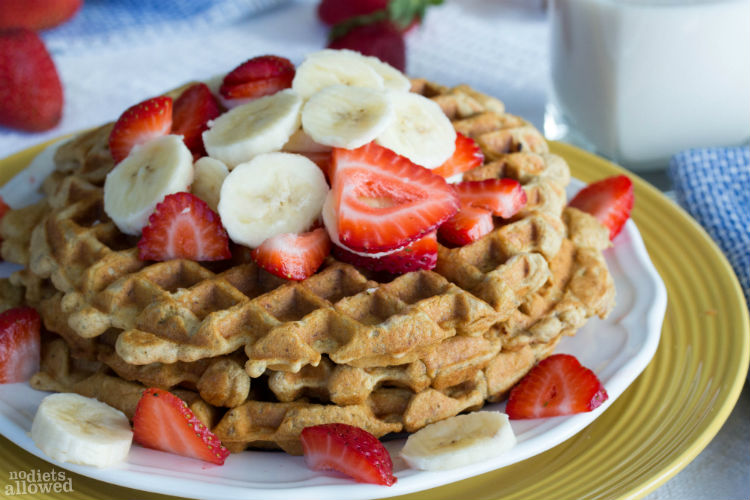 banana waffle recipe- No Diets Allowed
