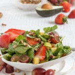 spinach salad strawberries- No Diets Allowed