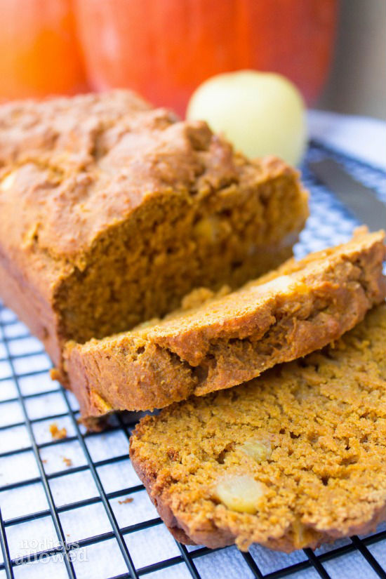 Apple Pumpkin Bread - No Diets Allowed