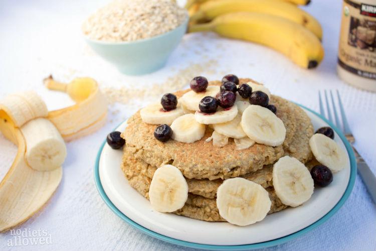 three ingredient pancakes - No Diets Allowed