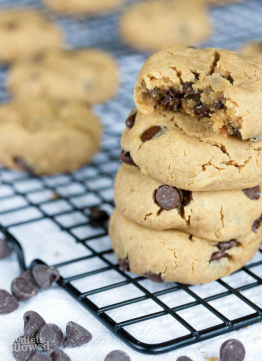 gluten and dairy free chocolate chip cookies- No Diets Allowed