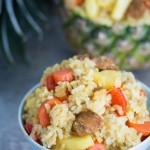 pineapple fried rice - No Diets Allowed