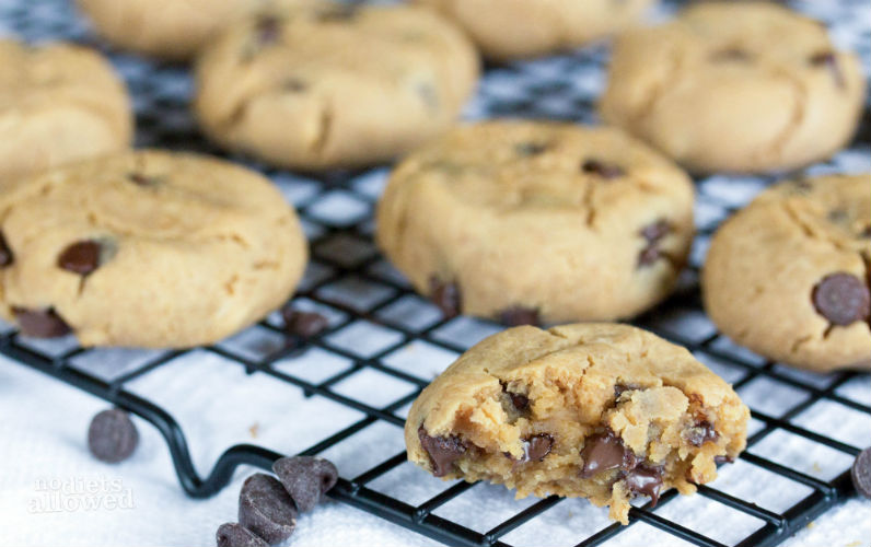 sugar free chocolate chip cookies- No Diets Allowed