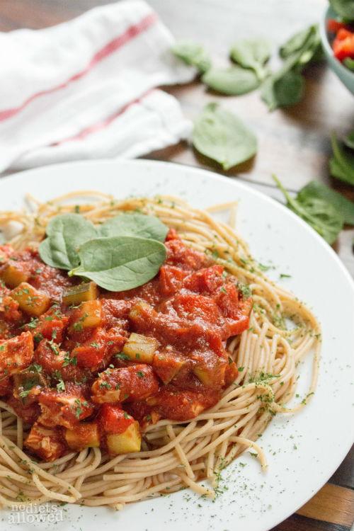 chicken spaghetti - No Diets Allowed