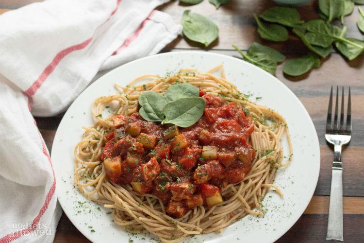 chicken spaghetti recipe - No Diets Allowed