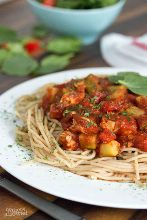 how to make chicken spaghetti - No Diets Allowed