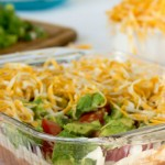 seven layer dip - No Diets Allowed
