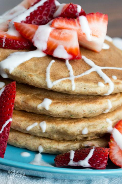 zucchini pancake - No Diets Allowed