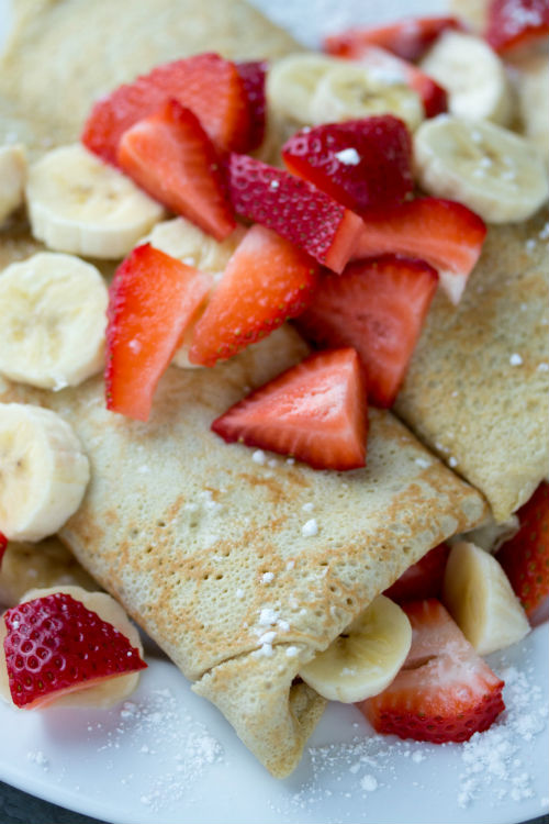 recipe for crepes - No Diets Allowed