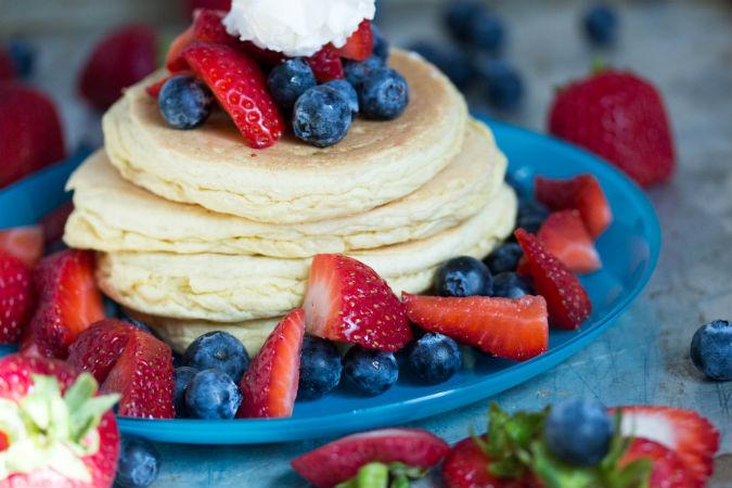 gluten free pancake - No Diets Allowed