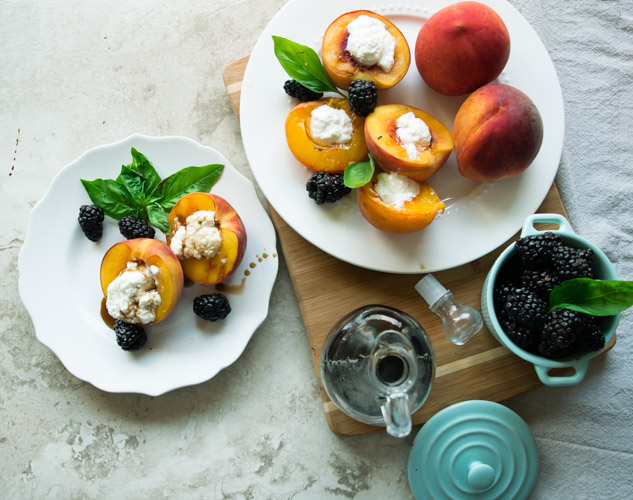 Grilled Peaches Balsamic