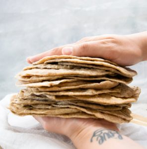 Homemade Whole Wheat Tortillas Recipe - No Diets Allowed #Food #Foodie