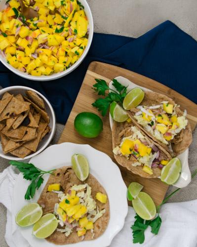 Easy Recipe For Mango Salsa - No Diets Allowed #Food #Foodie #MangoSalsa