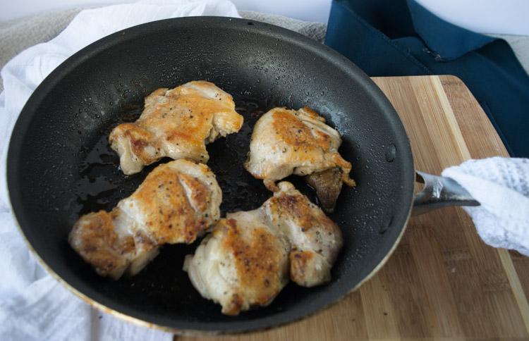 Honey Garlic Glazed Chicken Thighs Prep - No Diets Allowed