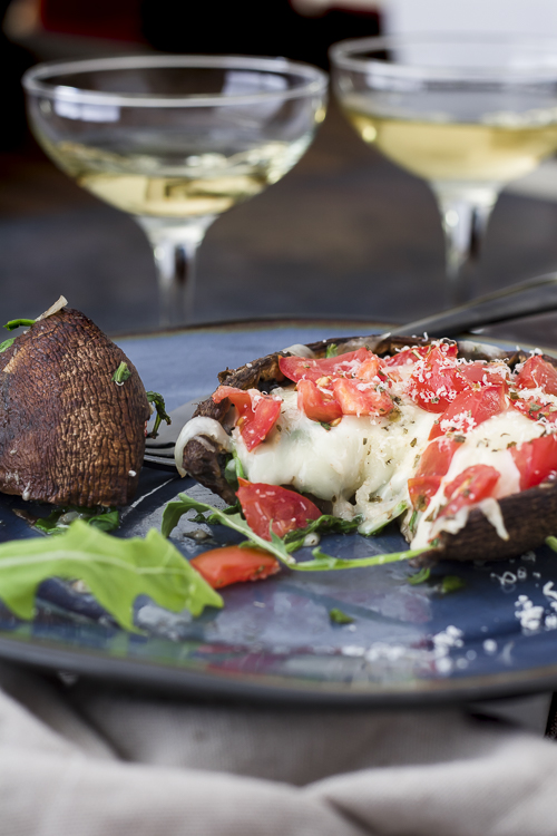 Baked Stuffed Portobello Mushroom Caps Recipes - No Diets Allowed #food #foodie #hungry