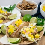 Easy Slow Cooker Pork Taco Recipe - No Diets Allowed #Food #Foodie #PorkTacos