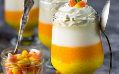 Candy Corn Panna Cotta