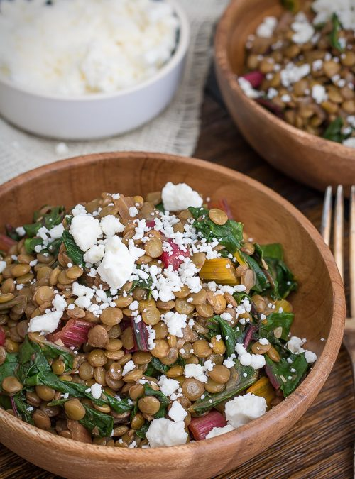 Swiss Chard Salad with Feta