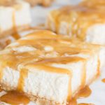 Caramel Apple Cheesecake Bars Recipe - No Diets Allowed #Cheesecake #Food #Foodie