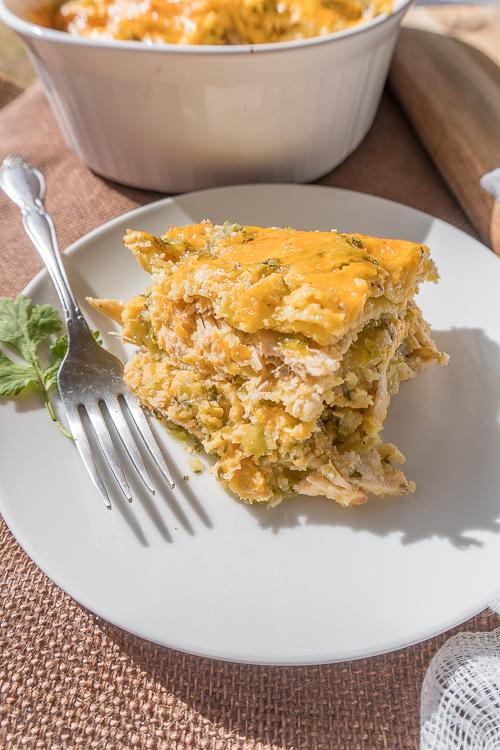 Leftover Turkey Enchilada Casserole Recipe - No Diets Allowed #Food #Foodie #Turkey
