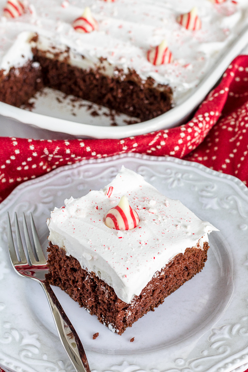 Easy Chocolate Mint Peppermint Cake Recipe - No Diets Allowed #Mint #Foodie #Food