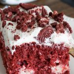 This is the best red velvet cheesecake recipe from No Diets Allowed.