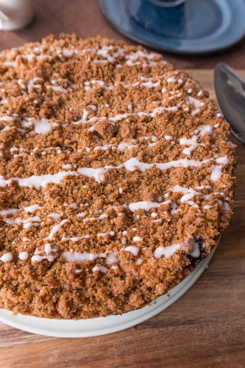 Easy Blueberry Coffee Cake Made With Bisquick