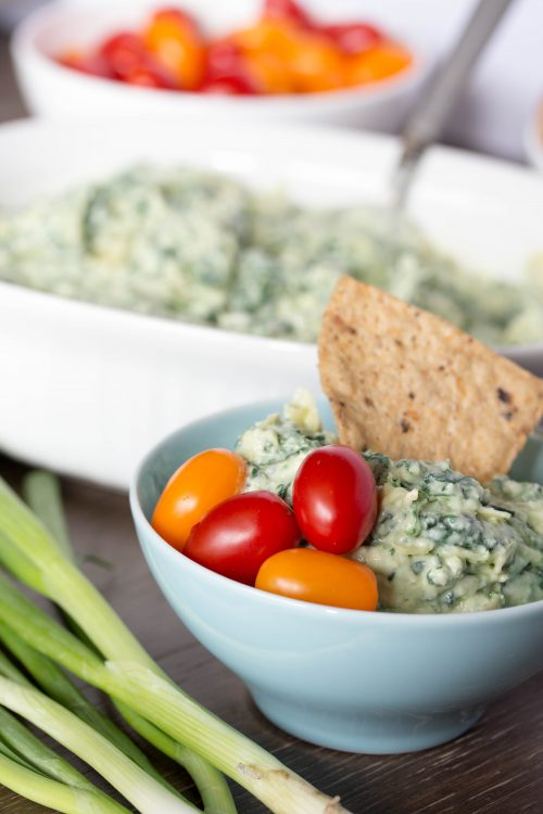 Spinach Artichoke Dip from No Diets Allowed