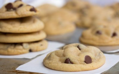 Chocolate Chip Cookies with Vanilla Pudding