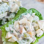 Greek yogurt, crushed pineapple, honey, and a touch of parsley really sets this waldorf salad recipe apart - no diets allowed